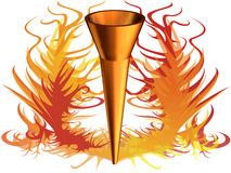 3d olimpijski pożarniczy wizerunek obrazy stock