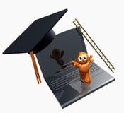 3d online graduatiepictogram Stock Foto's