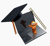 3d Online Graduation Icon Stock Photos