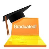 3d online graduation icon Stock Photo