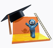 3d online graduation icon Royalty Free Stock Photo