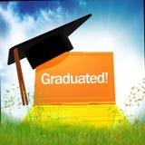 3d online graduation icon. Illustration Royalty Free Stock Photo