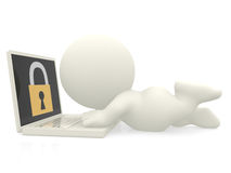 3D online security Royalty Free Stock Photography