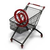 3d online shoppar Fotografering för Bildbyråer