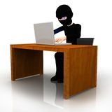 3D online thief Royalty Free Stock Photos