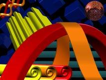 3D ontwerp royalty-vrije illustratie