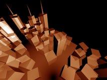 3d ontwikkeling van de perspectiefstad Stock Afbeeldingen