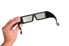 3D oogglazen en hand Royalty-vrije Stock Afbeeldingen