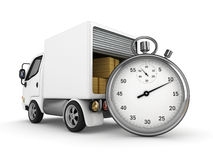 3D Open bestelwagen Stock Illustratie