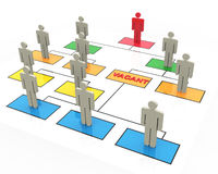 3d open position. 3d render of open position in organizational chart Royalty Free Stock Photo