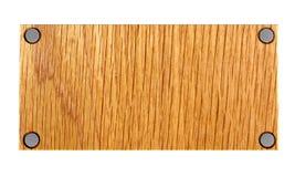 3d opróżniają półkowy drewnianego Obrazy Royalty Free