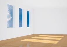 3d opróżniają renderingu pokój Zdjęcie Royalty Free