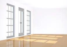 3d opróżniają renderingu pokój Zdjęcie Stock