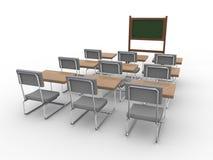 3d opróżniają sala lekcyjną ilustracja wektor