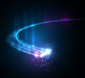 3D Optical Fibers Vector Illustration Stock Images