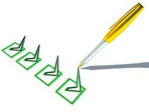 3d optie met gouden pen Royalty-vrije Stock Afbeelding