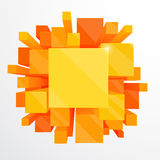 3d orange abstract background Stock Photos