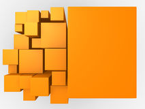 3d orange abstract background Stock Photography