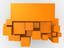 3d orange abstract background Stock Images