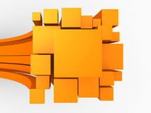 3d orange abstract background Royalty Free Stock Photography