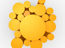 3d orange abstract background Stock Image