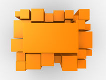 3d orange abstract background Royalty Free Stock Image