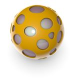 3d orange alien techno object ball Stock Photo