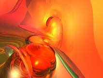 3D Orange Background Stock Image