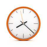3D Orange clock Stock Photos