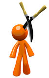 3d Orange Man Injury Law Concept Royalty Free Stock Photography