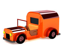 3d orange toy car isolated Stock Photography
