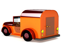 3d orange toy car isolated Royalty Free Stock Photo