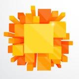 3d oranje abstracte achtergrond Stock Foto's