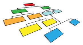 3d organizational chart. 3d perspective view of organizational chart Stock Photography