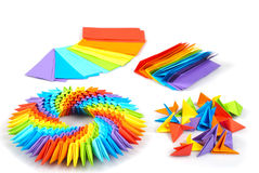 3d origami彩虹 免版税库存图片