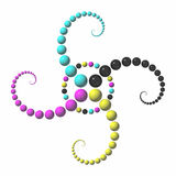 3d ornament. Al symbol (green and blue stock illustration