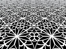 3d ornamental black and white detail Royalty Free Stock Photo