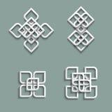 3d ornamenten in Arabische stijl Stock Afbeeldingen
