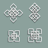 3d ornaments in arabic style Stock Images
