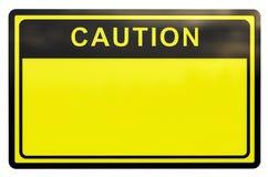 3d ostrożność znak Obrazy Royalty Free