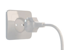 3d Outlet. 3d render of outlet on white background Stock Photos
