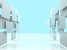 3d overlapping rectangles isolated over a white background Royalty Free Stock Photography