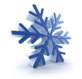 3d płatek śniegu Zdjęcie Stock