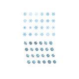 3d płatka śniegu ustalony wektor Zdjęcia Royalty Free