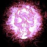 3d płonąca czaszka Zdjęcia Royalty Free