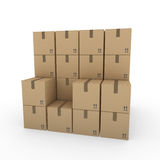 3d package shipping box brown Royalty Free Stock Photography