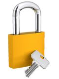 3D padlock and key Stock Image