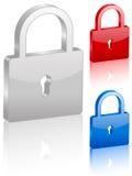 3D padlock symbol. Set. Vector illustration Royalty Free Stock Photo