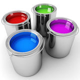 3d pain buckets Stock Images