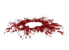 3d Paint. 3d red paint or blood, over white Stock Image